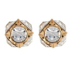 NWT: Kate Spade Round Crystal Stud Earrings